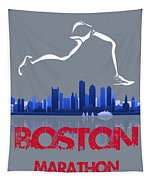 Boston Marathon3 Tapestry