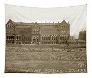 Boston Museum Of Fine Art On Copley Square Massachusetts Circa 1900 Tapestry