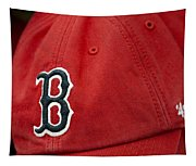 Boston Red Sox Baseball Cap Tapestry