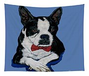 Boston Terrier With A Bowtie Tapestry