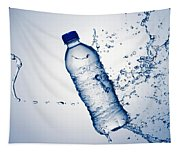 Bottle Water And Splash Tapestry