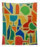 Bottles And Glasses 2 Tapestry