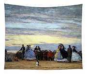 Boudin's The Beach At Villerville Tapestry