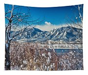 Boulder Colorado Winter Season Scenic View Tapestry