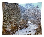 Boulder Creek Winter Wonderland Tapestry