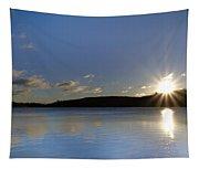 Boulder Lake At Sunrise Tapestry