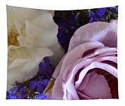 Roses And Violets  Tapestry