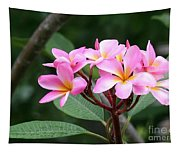 Bouquet Of Pink Plumeria Tapestry
