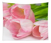 Bouquet Of Pink Tulips. Tapestry