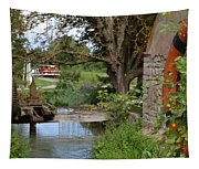 Bouy By Canal Tapestry