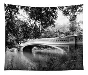 Bow Bridge In Black And White Tapestry