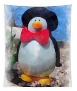 Bow Tie Penguin Photo Art Tapestry