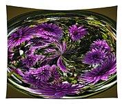 Bowl Of Dahlias Tapestry