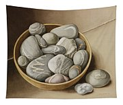 Bowl Of Pebbles Tapestry