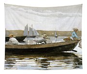 Boys In A Dory Tapestry