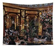 Brasserie Bofinger In The Rue De La Bastille, Paris, 1999 Oil On Canvas Tapestry