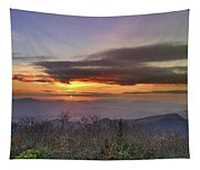 Brasstown Bald At Sunset Tapestry