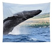 Breaching Humpback Whale Tapestry