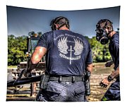 Breaching With Baton Rouge Swat Tapestry