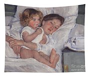 Breakfast In Bed Tapestry
