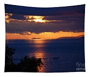 Brela Sunset Croatia Tapestry