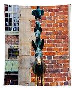 Bremen Musicians Statue Tapestry