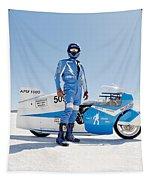 Brett De Stoop And His Suzuki Gt 750 Tapestry