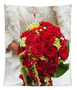 Bridal Bouquet With Red Roses Tapestry