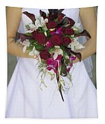 Brides Bouquet And Wedding Dress Tapestry