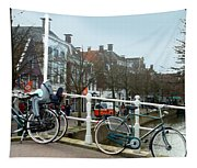 Bridge Across Canal - Amsterdam Tapestry