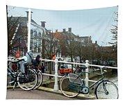 Bridge Across Canal - Amsterdam Tapestry