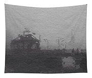 Bridge In The Fog Tapestry