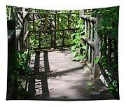 Bridge In Woods Tapestry