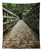 Bridge Leading Into The Bamboo Jungle Tapestry