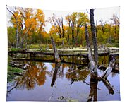 Bridge Over The Pond Tapestry