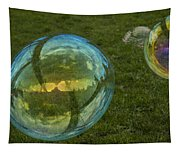 Bridge Reflections In The Bubbles Tapestry