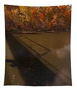 Bridge Shadow In Autumn On The  Duck River Tennessee Fine Art Prints As Gift For The Holidays  Tapestry