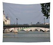 Bridges Over The Seine And Conciergerie - Paris Tapestry