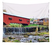 Bridgeton Mill And Covered Bridge Tapestry