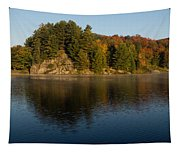 Bright And Sunny Autumn Reflections Tapestry