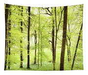Bright Green Forest In Spring With Beautiful Soft Light  Tapestry