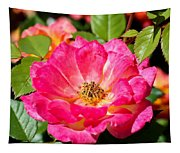 Bright Pink Rose Tapestry