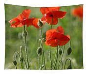 Bright Poppies 2 Tapestry