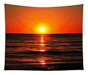 Bright Skies - Sunset Art By Sharon Cummings Tapestry