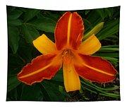 Brilliant Orange Lily Tapestry