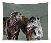 Brindle Greyhound Dogs Usa Tapestry