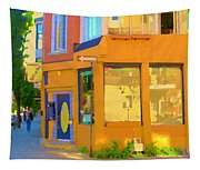 Bring Your Own Wine Restaurant Vents Du Sud Rue Roy Corner French Cafe Street Scene Carole Spandau Tapestry