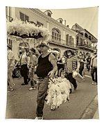Bringing Up The Rear Sepia Tapestry