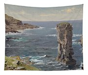 British Coastal View. Coast Of Cornwall Tapestry