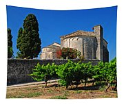 Brittany Vineyard And Monastery  Tapestry